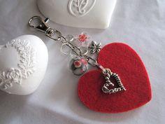 cadeau saint valentin original....  Porte-clé - Bijoux de sac - Coeur - St-Valentin