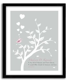 Christening Gift Baptism Gift Girl by GoodNightOwlDesigns on Etsy, $20.00