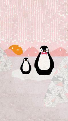 Penguins on pink. I die. Penguin Tattoo, Penguin Art, Penguin Love, Cute Penguins, Penguin Clipart, Pinguin Illustration, Cute Illustration, Penguin Pictures, Art Pictures