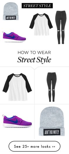 """""""street style"""" by brittanyyxxxx on Polyvore featuring Topshop, Dimepiece and NIKE"""