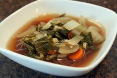 Carrot and Bok Choy Soup