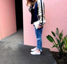 street style fashion blog serendipity ave in pink oldskool vans