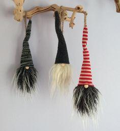 Tomte Nisse gnomes woodland holiday Swedish hanging ornaments