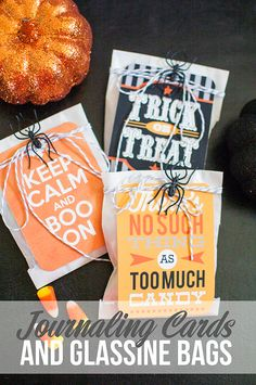 Halloween Treat Bags you can make using Digital Journaling Cards :: Sweet Shoppe Designs