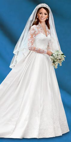Kate Middleton Commemorative Porcelain Bride Doll from Ashton-Drake Galleries www.ashtondrake.com/products/301652002_princess-catherine-bride-doll.html