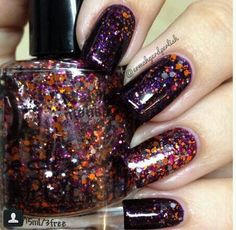 'feed the monster' by @ermahgerdperlish on Instagram #pipedreampolish #nails #nailpolish #indiepolish #glitter http://www.etsy.com/shop/pipedreampolish