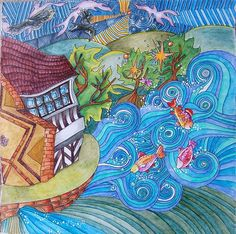 Enchanted Forest Coloring Book Pages Little Moreton Hall City Colour Magical Christmas Color Of Life Instagram Colored Pencils