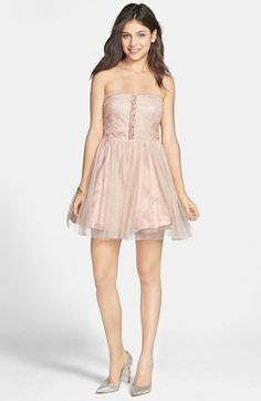 Jump Apparel Strapless Dress (Juniors) available at #Nordstrom