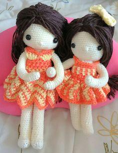 My crochet dolls : Lovely sisters!