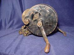 Vintage Luther Grinder Mfg. Co. Clamp-on Bench Tool Grinder. Click on the image for more information.