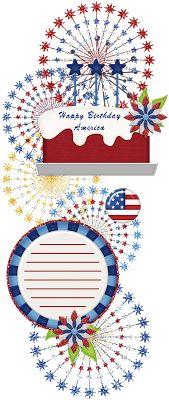Scrapbooking TammyTags -- TT - Designer - 4 My Babies Scraps,  TT - Item - Journal Space, TT - Style - Cluster, TT - Theme - Patriotic or July 4th