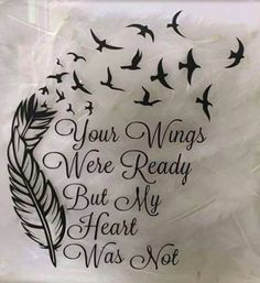 When Johnny was little he asked me when his wings were going to grow.