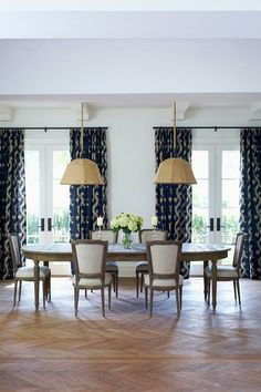 The Dining Table In 2011 Princess Margaret Showhome Was Chosen For Its Oval Ends And Extra Leaf Burlap Pendants Hung Low Create A Relaxed Intimacy