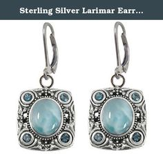 Sterling Silver Larimar Earrings (BTS-NEA3077/LR/LBT/R). Gorgeous sterling silver larimar earrings from our very special new collection. 30 day satisfaction guarantee!.