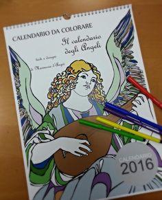 Calendario degli angeli da colorare