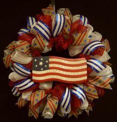 Memorial Day Wreaths RWB Patriotic Wreaths Labor by wreathsbyrobin, $50.00