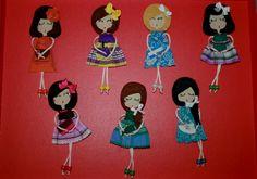 DAMA DE PICAS: Nuevas muñequitas broche de fieltro