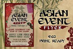 Asian Event Flyer by SkyvaraSupply on @creativemarket