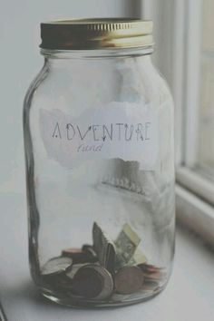 I don't think the jar is a big enough lol but deff a good idea to make an adventure jar to save money and tell the kiddos when it's full then we'll go :) Do It Yourself Inspiration, Room Inspiration, Travel Inspiration, Daily Inspiration, Best Hacks, Bric À Brac, Tumblr Rooms, Room Goals, My New Room