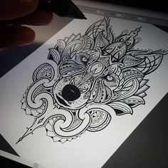 Late night design - Mosaic Maori Wolf ! Tattoogoldnz@yahoo.com #wolf #mosaicflow #newzealand