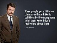 Lmao I love you Ron Swanson!