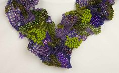 Tina Koyama's freeform necklace - mix of peyote and right angle weave, though again you could also call it freeform netting. Tina is another excellent teacher who encourages you to stretch yourself.