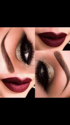 Vintage.  Nice New Year Eve Makeup for every skin color.