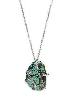 Lauren Wolf Jewelry Turquoise Claw Pendant Necklace | Gilt