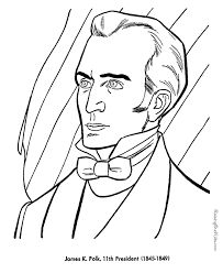 President James K. Polk image printable US Presidents coloring pages learning activities and coloring sheets. Homeschool US Presidents learning aids List Of Presidents, Presidents In Order, American Presidents, Mexican American War, American History, Chester A Arthur, James K Polk, George Washington Birthday, Cc Cycle 3