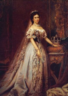 "Empress Elisabeth Amalie Eugenie ""Sissi"" (1837-assassinated 1898) Bavaria, wife of Emperor Franz Joseph I Austria."