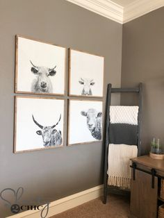 We LOVE these DIY Cow Prints! Each print is 24″ wide, only costs about $12 and they are super easy to build – COWABUNGA! So, grab your favorite cup of coffee and come build some DIY Cow Wall Art! Just click HERE or the image below to watch! How easy!?! You can download the FREE…