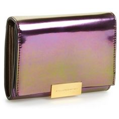Stella McCartney 'Eco Hologram' French Wallet (€265) found on Polyvore