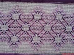 Discover thousands of images about Patrones Punto de Cruz: punto yugoslavo Swedish Embroidery, Towel Embroidery, Cross Stitch Embroidery, Embroidery Patterns, Huck Towels, Swedish Weaving Patterns, Chicken Scratch Embroidery, Monks Cloth, Weaving Designs