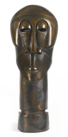 Dumile Feni-Mhlaba (Zwelidumile Mxgazi) UNTITLED (HEAD) Contemporary African Art, South African Artists, Portraits, Land Art, Antiquities, Metal Art, Statues, Modern Art, Ethnic