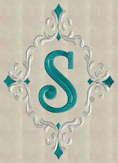 Font Frame Monogram Embroidery Design Font not by StitchElf