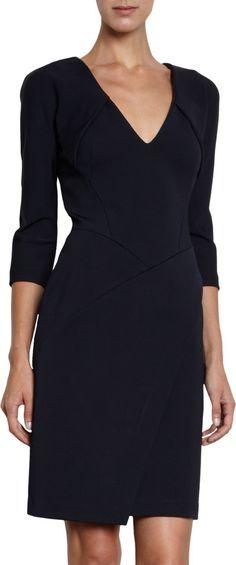 J. Mendel V-Neck Dress at Barneys.com