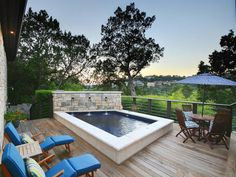 Covered porch and pool with beautiful views of the hill country 4326 Palladio Drive, Austin, TX 78731
