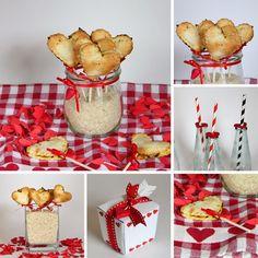 Mürbteig Herzchen on a Stick mit Kürbis-Füllung - Freude am Kochen - Buffet vegan - Valentinstag