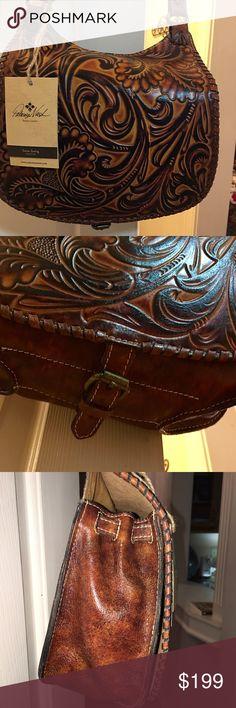 Selling this Borghetto Tuscan Tooled Leather Cross-body Bag on Poshmark! My username is: kathywms. #shopmycloset #poshmark #fashion #shopping #style #forsale #Patricia Nash #Handbags