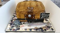 Sea Fisherman Cake - Cake by cakefiction Fisherman Cake, Fishing Cakes, Gravity Defying Cake, Love Cake, Amazing Cakes, Sculpting, Basket, Sea, Cookies
