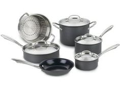 10-pc. Green Gourmet Hard Anodized Nonstick Cookware Set by Cuisinart by Cuisinart at Cooking.com #holidaycooking
