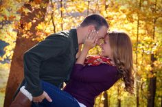 Our Engagement Shoot!  Fall foliage <3