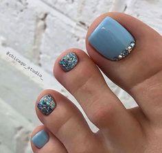 Gel Toe Nails, Simple Toe Nails, Pretty Toe Nails, Cute Toe Nails, Summer Toe Nails, Feet Nails, Summer Acrylic Nails, Toe Nail Art, My Nails