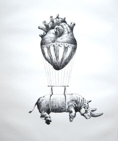 """Love"" by Otto D'Ambra. (""Love lifts us up where we belong..."") Not the rhino, though"