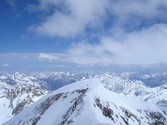 Blick vom Süd- zum Nordgipfel Ski Touring, Skiing, Mountains, Nature, Travel, Winter House, Parking Lot, Alps, Ski