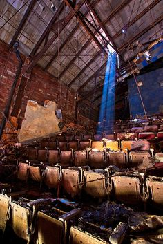 Once a thriving city, a now rotting Gary Palace Theatre, Gary, Indiana