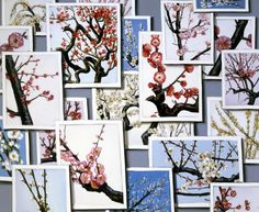 Cherry Blossoms by Lisa Milroy Lisa Milroy, Still Life Artists, Mechanical Art, Still Life Drawing, Plant Art, Wish You Are Here, Gcse Art, Graphic Art, Gallery Wall