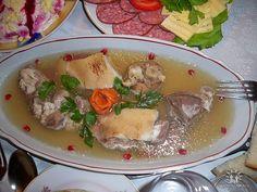 Racituri - Headcheese Romanian Recipes, Romanian Food, Grubs, Soul Food, Delish, Roast, Pork, Food And Drink, Cooking
