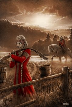 Slavic mythology by Igor Ozhiganov. The Slavic world series. Romantic meeting...
