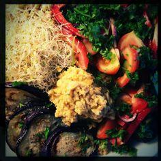 Eggplant Steak w/ Hummus